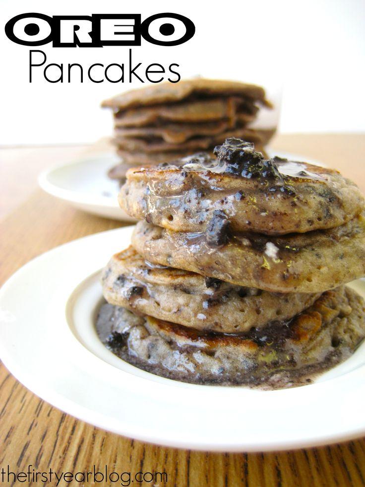Oreo Pancakes on MyRecipeMagic.com