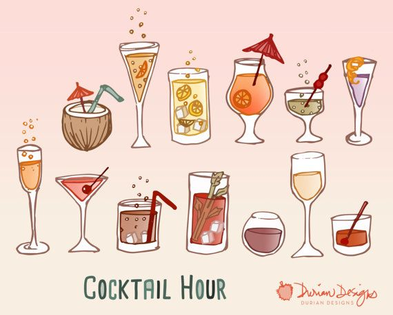 Retro cocktail drinks clipart commercial use, wine, hand drawn glasses, mai tai, champagne, alcohol doodles clip art, instant download  Festive cocktail party clipart commercial use, wine bar, hand drawn drinks, mai tai, champagne, alcohol doodles clip art, instant download With this download, separate/individual image files are in PNG (transparent) format and JPG (white background) format. The pina colada coconut drink is 4.7x5.3 inches. The main previews (with all images compiled) are ...