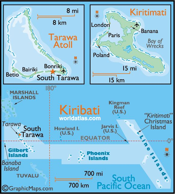 Marshall Islands South Pacific Map