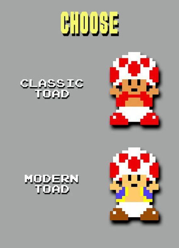 Super Mario Bros 3d Toad Pixel Bead Figure Super Mario Bros Mario Pixel Beads