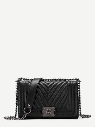 8273d9f81ca4ba $23 Black Chanel Boy Bag Dupe with silver hardware | Little Bags Of ...