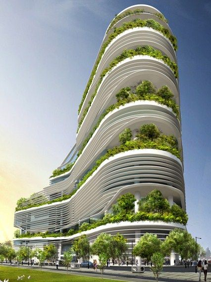 Solaris, an office building designed by Architects T.R. Hamzah and Yeang…