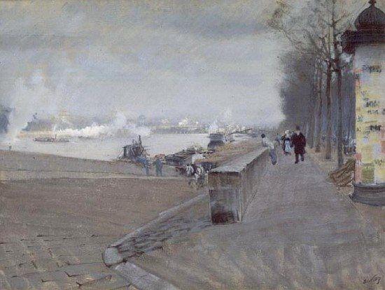 Giuseppe De Nittis  The Seine at Paris
