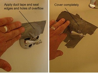 How to Unclog a Tub Drain: Seal Tub Overflow Drain with Duct Tape