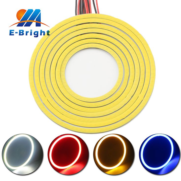 60mm Car Angel Eyes LED Headlights 12v Universal Waterproof Halo Rings With Pigtial For Most Cars Supper Bright Car LED Light