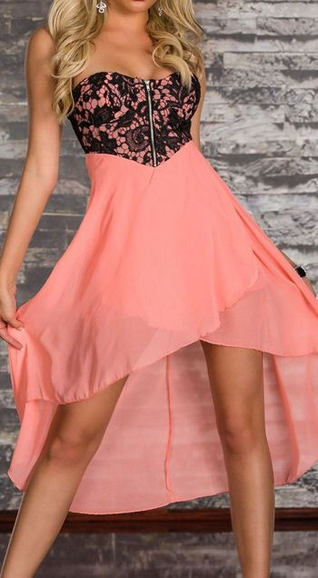 Cute Flower Lace Hi-Lo Dress this with some cute cowboy boots yes