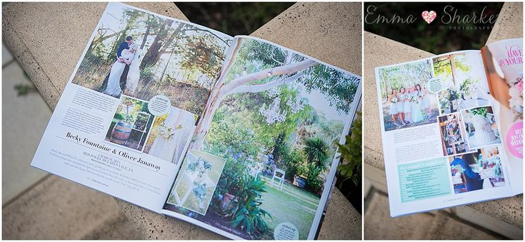 Blog • Emma Sharkey Photography | Adelaide Wedding Photographer  Becky and Olly published in Bride to Be, Best Real Weddings 2014 issue