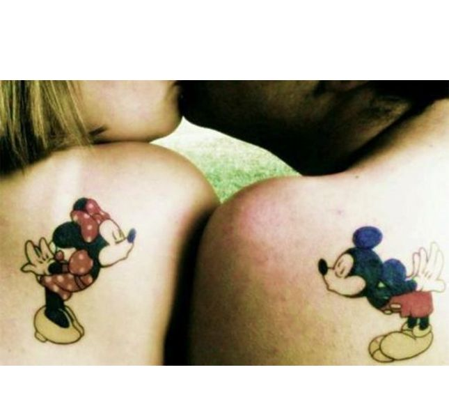 Minnie e Topolino / tatoo per coppie