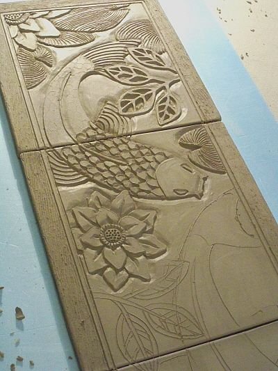 In the studio koi garden pottery clay and ideas