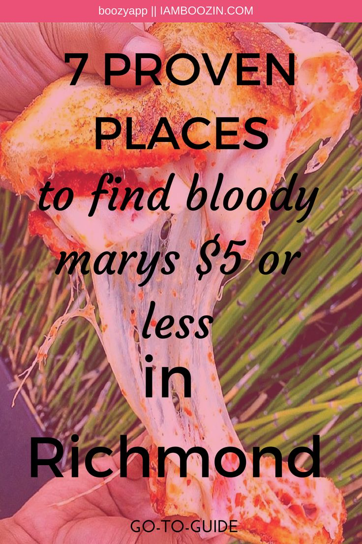 Richmond Brunch | 7 Proven Places To Find Bloody Mary's $5 Or Less In Richmond [Go-To-Guide]...Click through for more!  Brunch Richmond Richmond Brunch RVA Brunch Brunch RVA