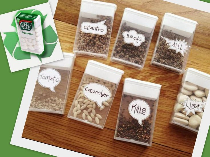 Boa idéia para guardar sementes desidratadas para plantar depois.