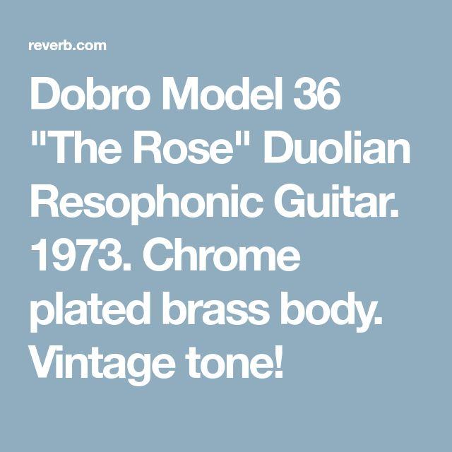 "Dobro Model 36 ""The Rose"" Duolian Resophonic Guitar. 1973. Chrome plated brass body. Vintage tone!"