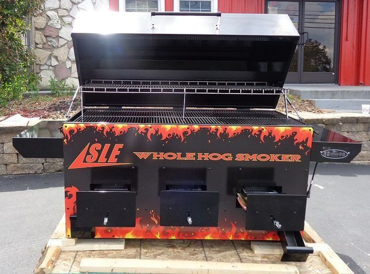 SLE WoodMaster D1400 Whole Hog Pellet Grill Concession BBQ Smoker #BayouClassic