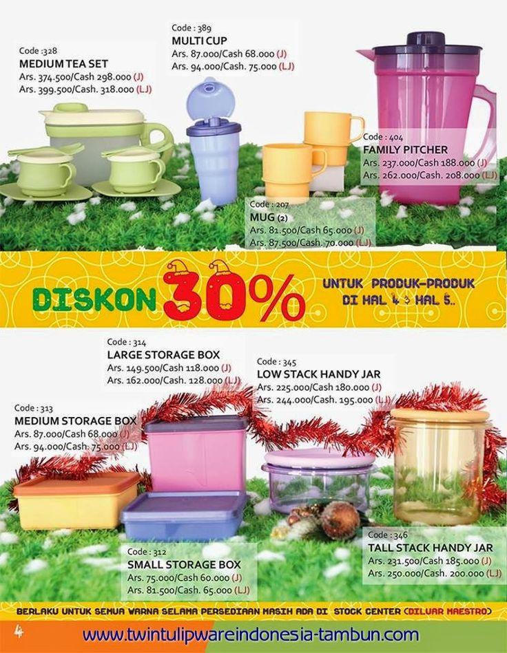 Promo Diskon 30% Tulipware   November - Desember 2014