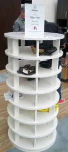 Rotating Shoe Tower