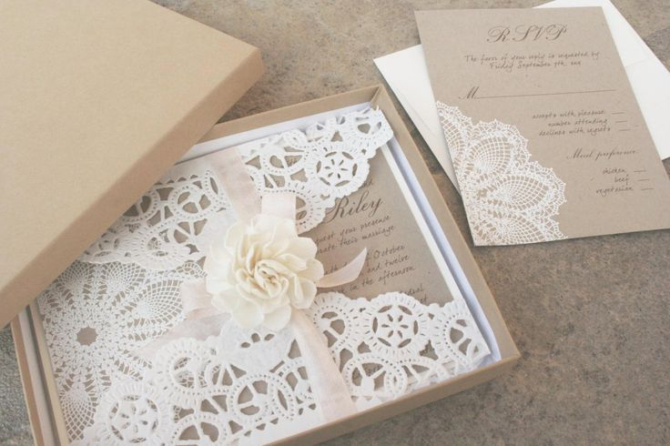 Lillian Lace Wedding Invitation Collection