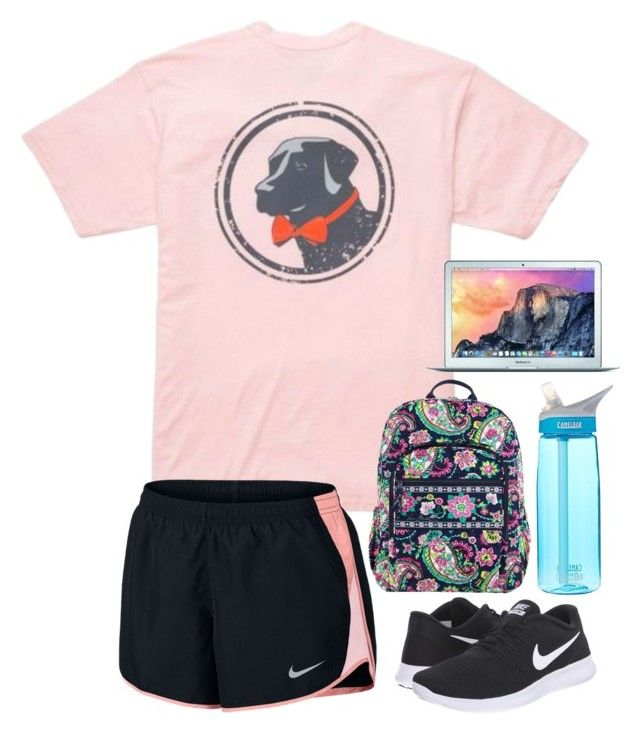 """College Outfit #4"" by preppy-college ❤ liked on Polyvore featuring Southern Proper, NIKE, Vera Bradley and CamelBak"
