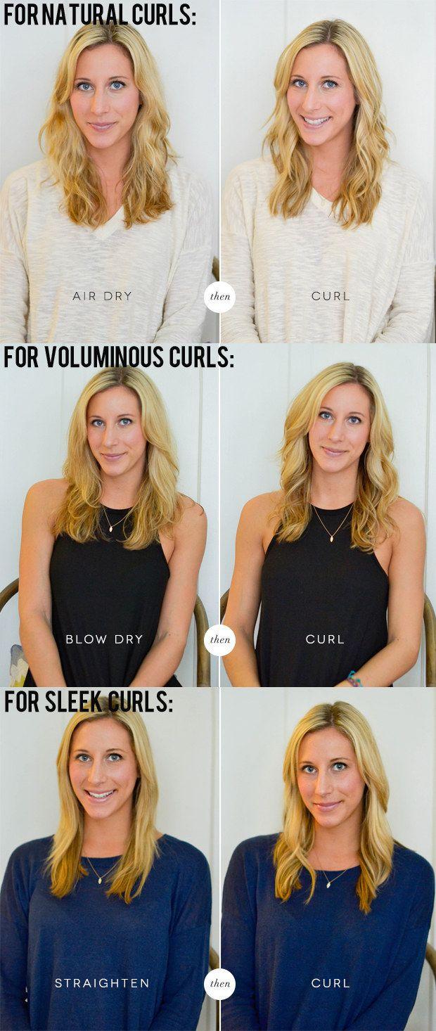 Para aprovechar al máximo las capacidades de tu rizador, seca tu cabello de acuerdo con los rizos que deseas.