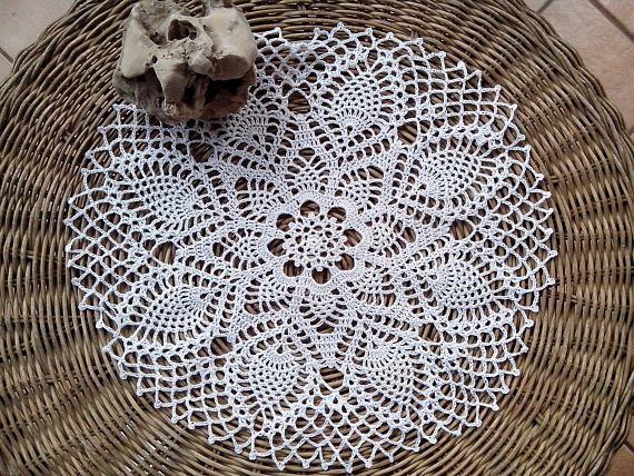 Crochet Large Doily White table doily lace home decor