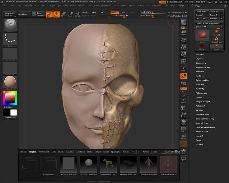 Mona Lisa with half head as skull