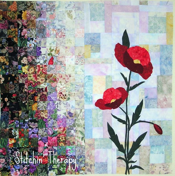DESIGN STYLE; IMPRESSIONISTIC: HOW TO MAKE A WATERCOLOR QUILT! Stitchin' Therapy: Tutorial Design a Watercolor Quilt