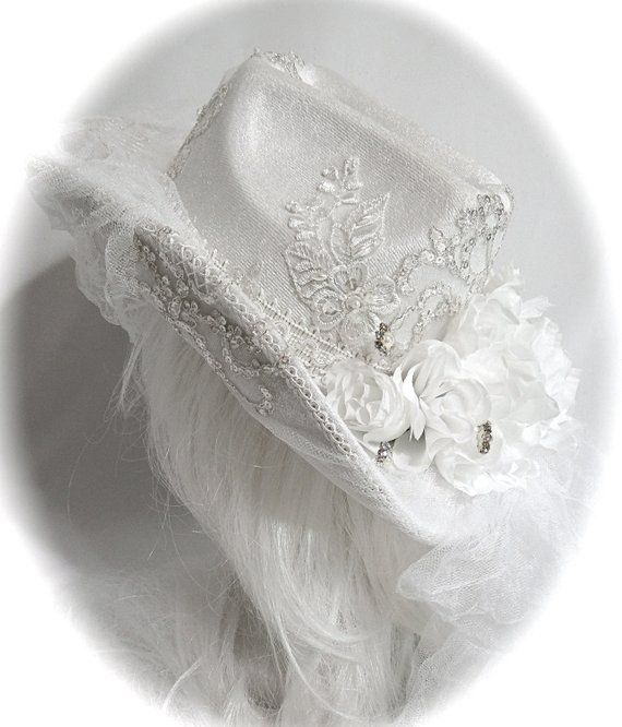 609170ecdc542 Bridal Cowboy Hat White Cowgirl Lace Hat Accessories BH-105 in 2019 ...