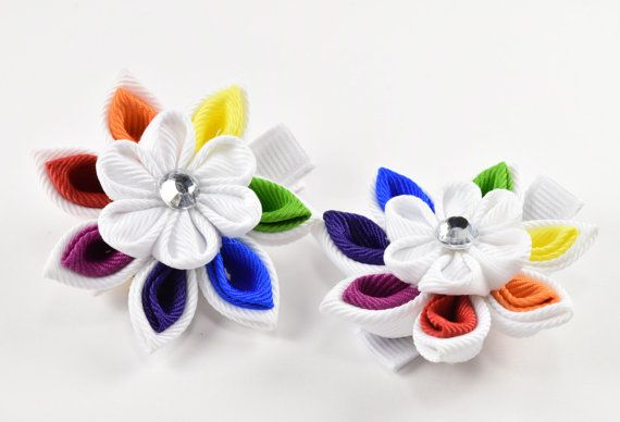 Hey, I found this really awesome Etsy listing at https://www.etsy.com/listing/230842738/kanzashi-fabric-flower-hair-clips-set-of