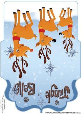 Fun Reindeer Christmas Money Wallet Voucher