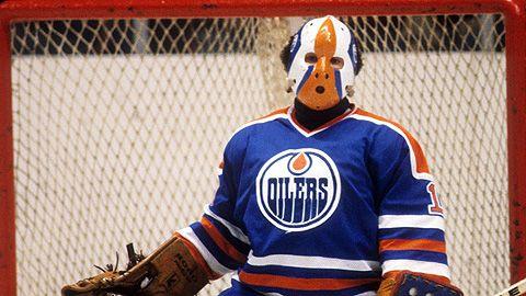 Grant Fuhr vintage picture - Edmonton Oilers goaltender #mask #vintage #goalie #edmonton #grant #fuhr #koho