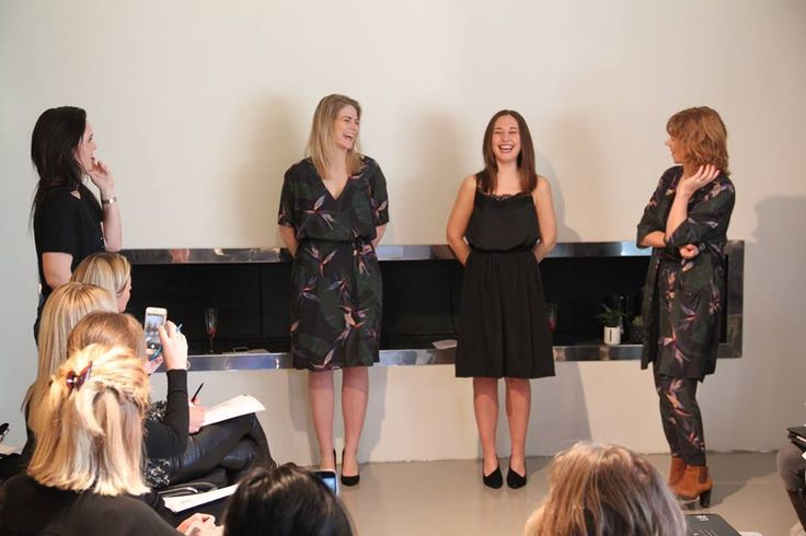 Left model wearing Joleen dress, right model wearing Jillian top and Jussi skirt at Kickoff day SS17 Black Swan Fashion