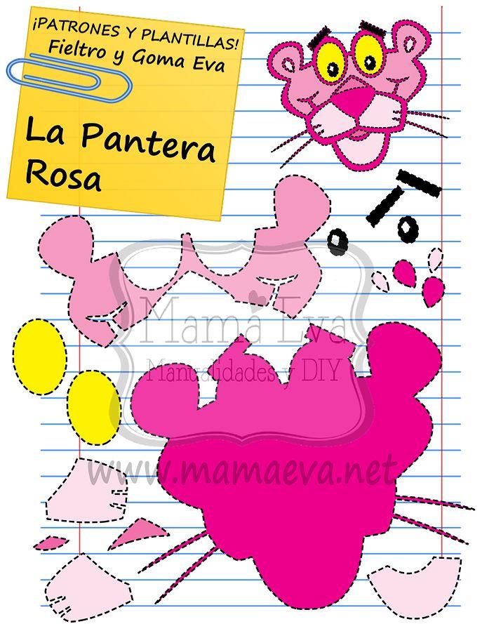 ¡¡¡¡¡La pantera rosa!!!! No os digo más....  Mamá Eva Manualidades y DIY Plantillas para goma eva