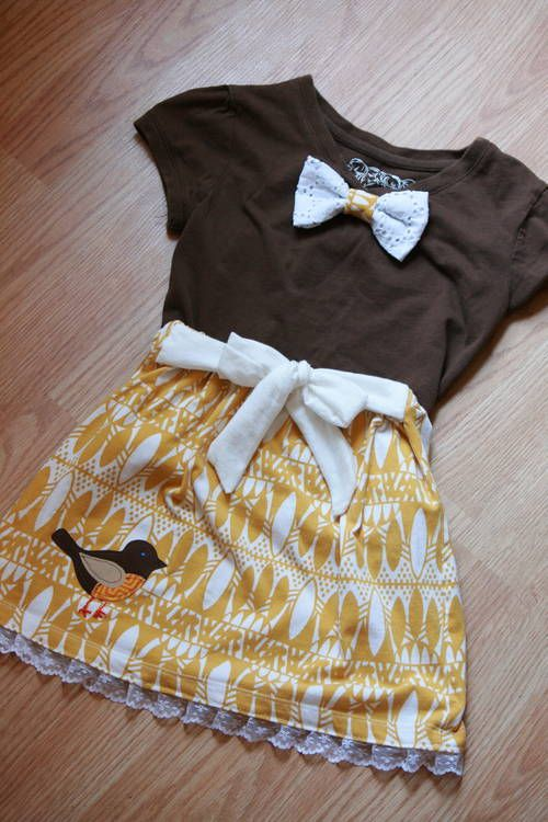 Yet another upcycle for my wee one! Toddler dress - CLOTHING - Craftster.org Best of 2013 Winner