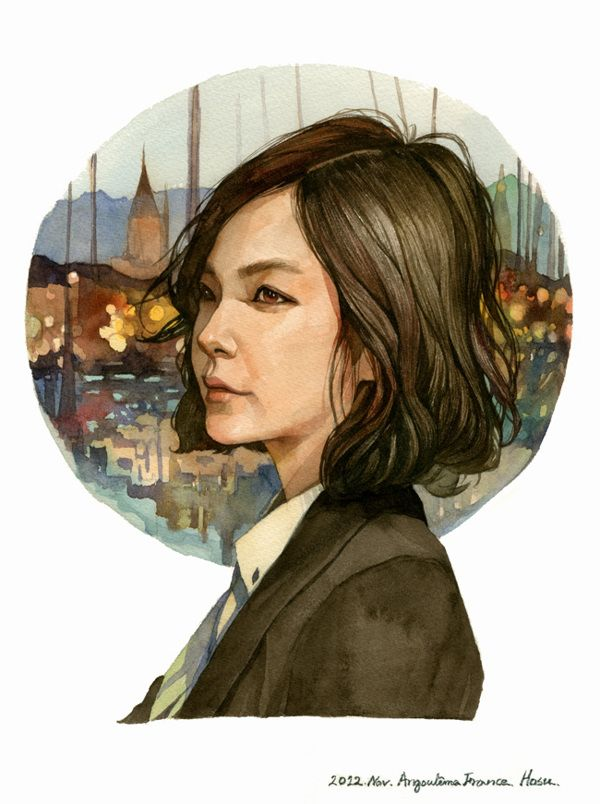 Watercolor portrait on Illustration Served