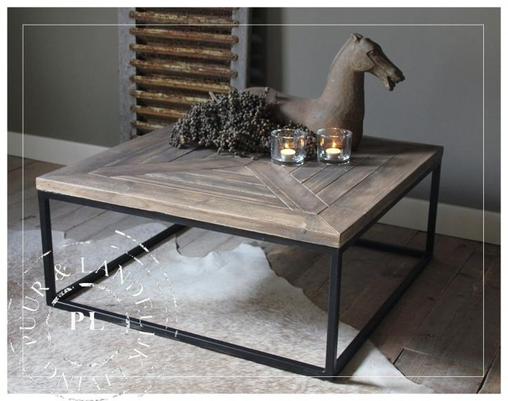 Maatwerk / landelijke salontafel / PERFECTLY / old wood | 》Landelijke salontafels | Puur & Landelijk Living
