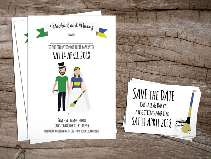 GAA Couple Wedding InvitationsWedding Invitations to start your exciting adventure together