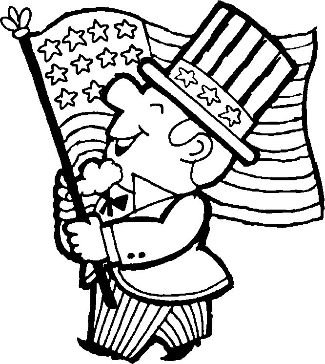 Us Flag Coloring Page American Eagle