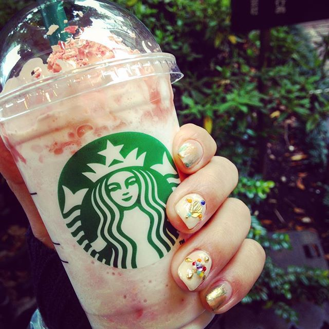 Cherry Blossom Frappuccino, inspired by Japan's cherry blossom tradition. The drink has been popular in Japan since 2010, and Starbucks fans there can also get a Sakura Blossom & Strawberry Latte and the Sakura Blossom & Strawberry Frappuccino