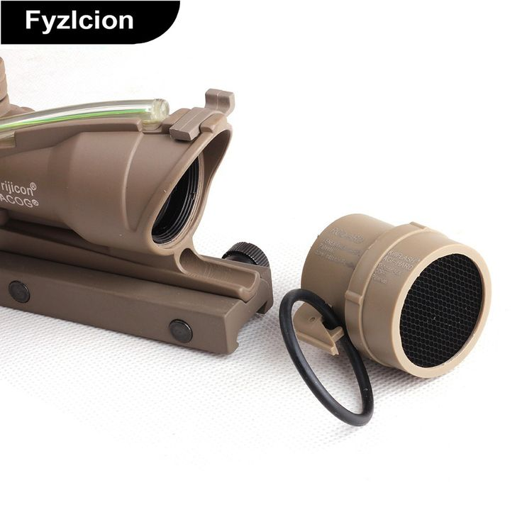 Fyzlci Aluminum  DEFENDER Protector Cover for Trijicon ACOG Series Tactical Scope Sigh  Black Tan Color   #Affiliate