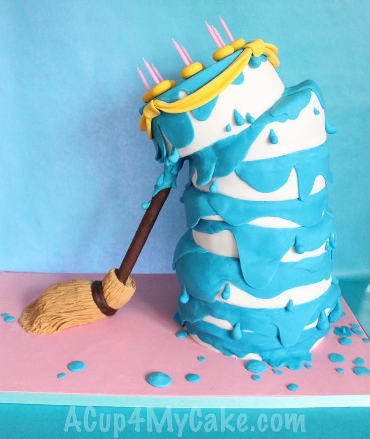 Wonky Sleeping Beauty Cake
