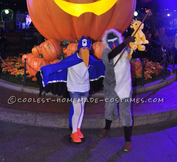 Zazu and Rafiki Lion King Costumes... Coolest Halloween Costume Contest