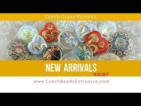 Czech Glass Buttons - New Arrivals 15.03.2017 | CzechBeadsExclusive