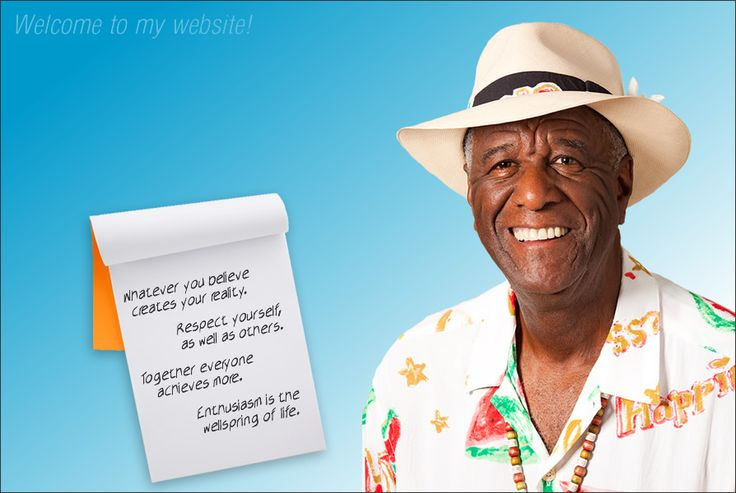 Wally Amos' Four Simple Rules for Life: 1. Whatever you believe creates your reality. 2. Respect yourself as well as others. 3. Together everyone achieves more. 4. Enthusiasm is the wellspring of life.