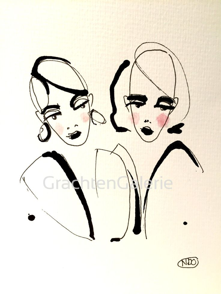 Noortje den Oudsten | Present lady 7 | tekening | kunst | illustratie | mode | kunstcadeau | drawing | art | illustration | fashion | presents