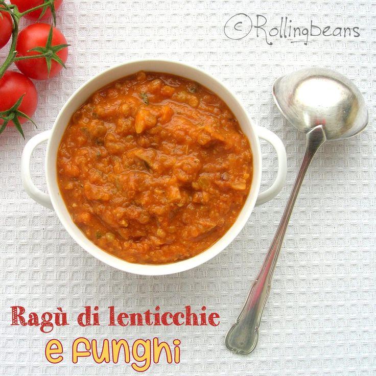 Ragù di lenticchie e funghi (vegan)