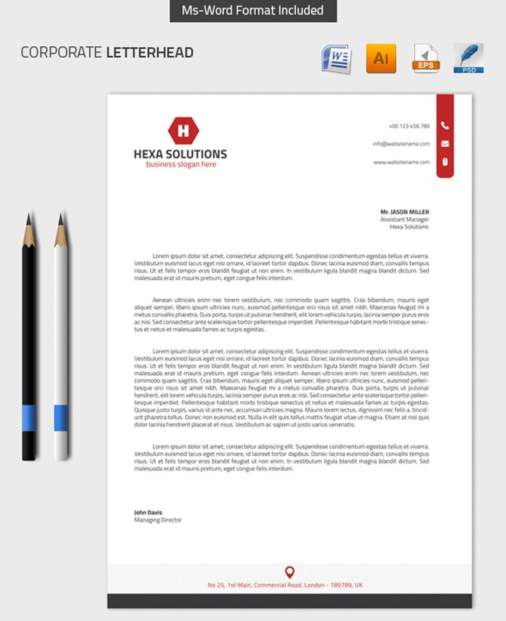 25+ melhores ideias de Professional letterhead template no Pinterest - letterhead samples word