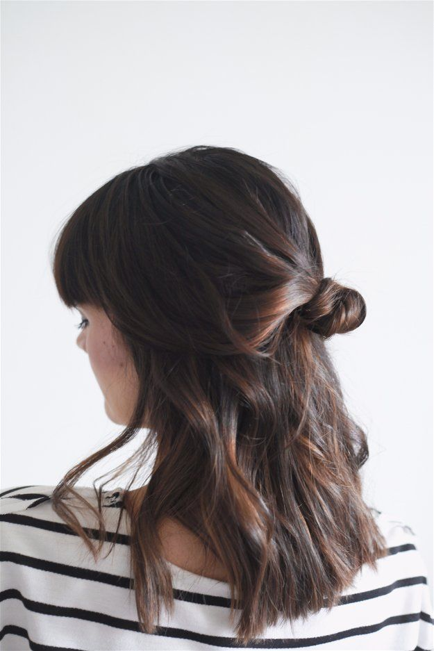 Half Up Knot | Easy Hairstyles For Black Friday Morning Shopping