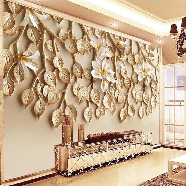 Avikalp Large custom wallpaper Wallpaper Yasushan fragrant resin embossed TV bac…