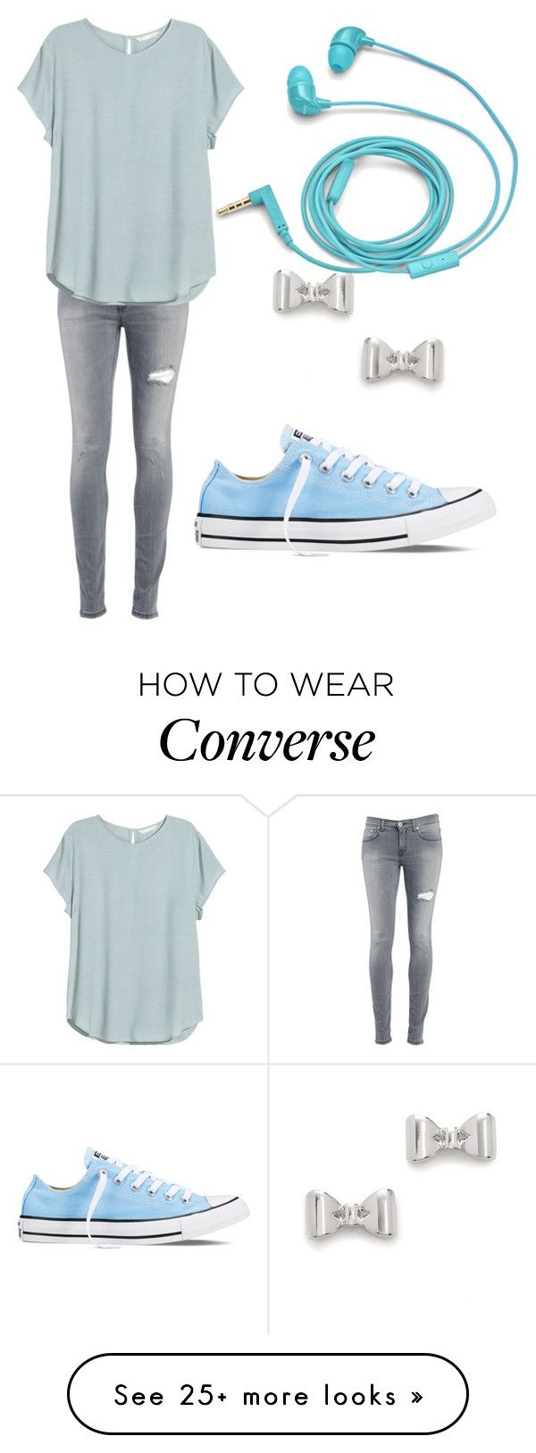 """"" by stoteva on Polyvore featuring Dondup, H&M, Marc by Marc Jacobs, FOSSIL, Converse, women's clothing, women's fashion, women, female and woman"