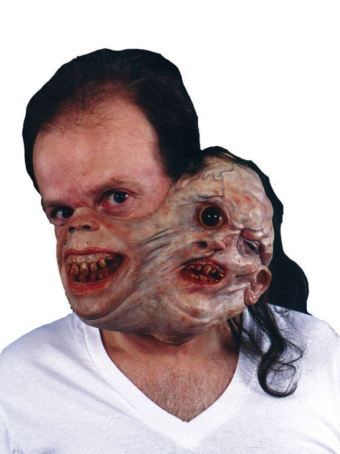 Scary Masks For Halloween Twosome Gruesome Freaky Faces Adult NEW