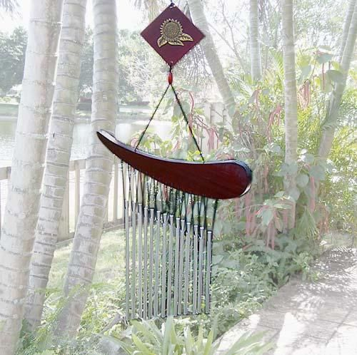 Brunette amateur wind chimes asian style are crucified